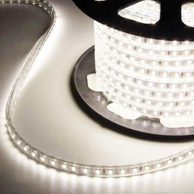 Striscia LED a metro smd 5050 220v 12w/m luce naturale 4200k KIT