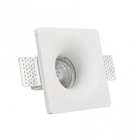Portafaretto plaster concealed square side 12 cm for LED bulbs GU10
