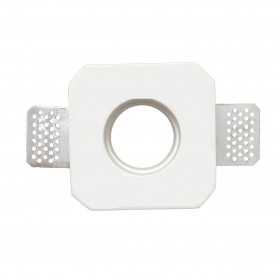 Portafaretto plaster concealed square side 9.3 cm for LED bulbs GU10