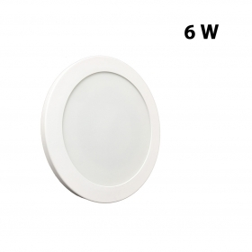 Plafoniera applique LED 6w slim disco diametro 123mm da muro, soffitto LED