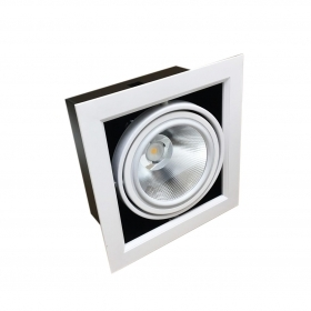 Portafaretto AR111 Adjustable 20w Full of 1 Spotlight LED Ring Silamp