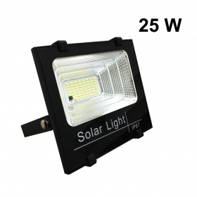 Projector Headlight solar 25w with solar panel, including DIMMABLE