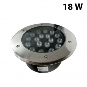 Faretto LED 18W 230v 18x1w calpestabile da incasso Fare