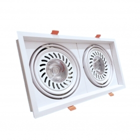 Faretto Led da incasso 36W 2x18w Faro led ar111 CoB incasso orientabile