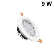 LED spotlight 9w adjustable recessed diameter of 138 mm with transformer included