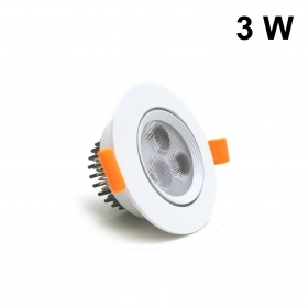 Faretto LED 3W da incasso diametro 85 mm orientabile driver incluso Fi32-3w