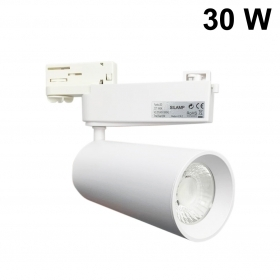 LED spotlight track for three-phase version White 30w