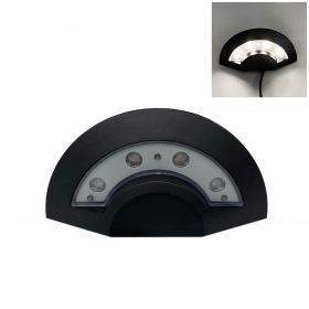 Lampada Applique LED 4x1W nero