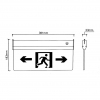 Sign the Emergency flag, LED 3W to the Right emergency exit sign E17-DX