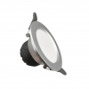 Faretto LED 6W da incasso diametro 100mm F.I. 75-95mm ARGENTO Fi52-6W