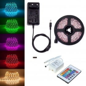 Led strip rgb strip 5metri coil with Remote controller the internal and external