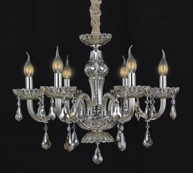 Crystal chandelier 6 lights lamp cl