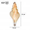 LED lamp 8W big E27 design Shell with the filament L88-8W