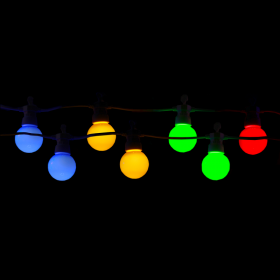Catena luminosa lampadine Multicolor E27 incluse per decorazioni festive IP65
