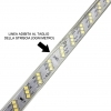 Striscia LED a metro smd 2835 180led/m 9.5w/m IP65 esterno KIT