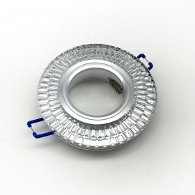 Ring spotlight GU10 downlight glass Mirror a fragmented crystals