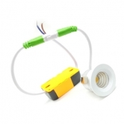 Mini Led lampe Spot encastrable 3W Carré 39mm Cob Transformateur inclus conducteur de led