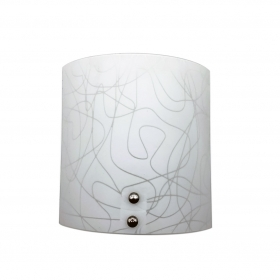 Applique Wall-Lamp Glass White
