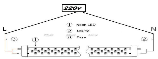 Schema Collegamento Neon Circolare : Information