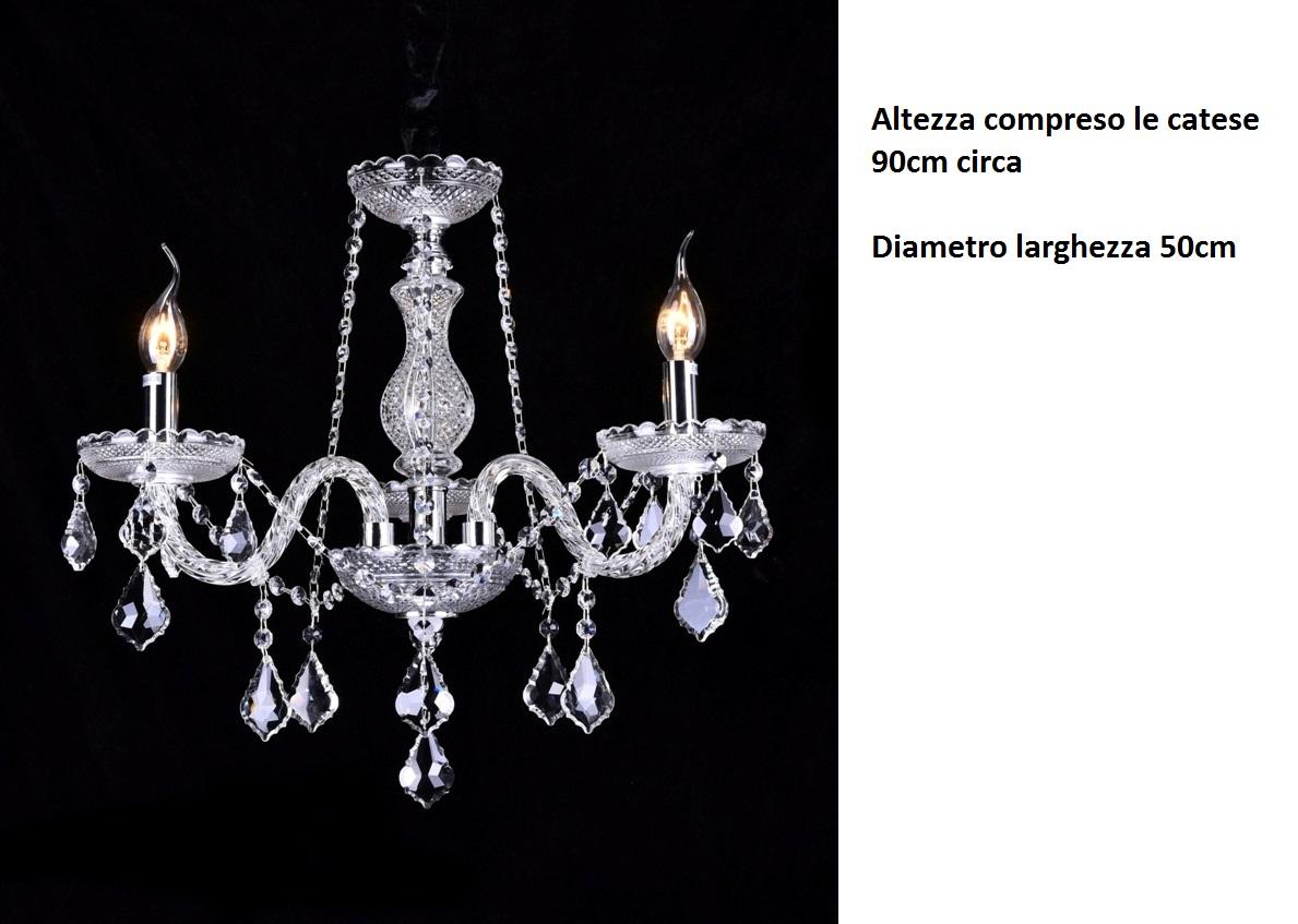 Lampadario Bianco E Cristallo : 2010 3 lampadari a sospensione silamp lampadario da 3 luci