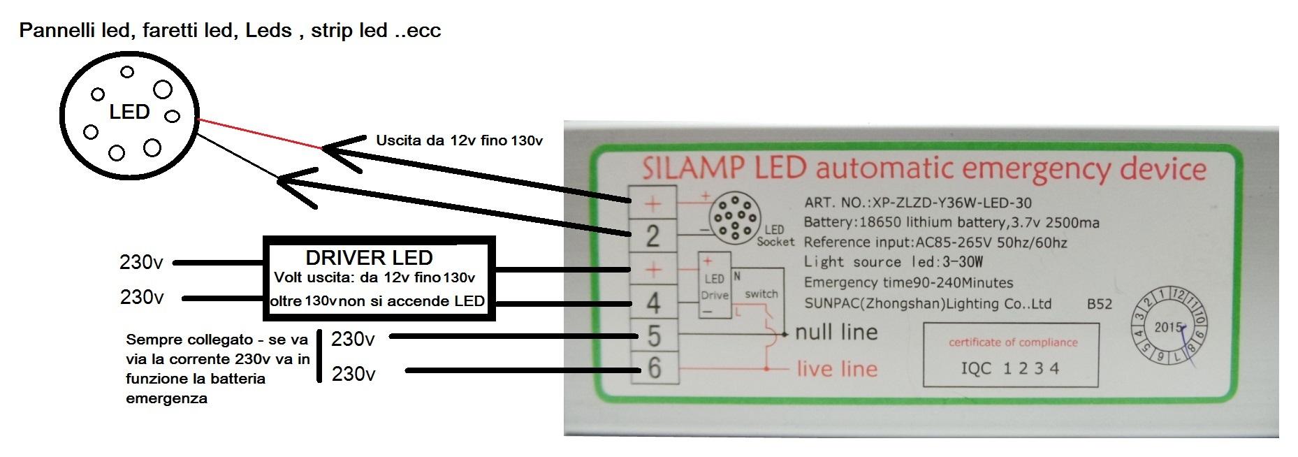 Schema Elettrico Lampada Di Emergenza A Led : Sen w offerte trasformatori e alimentatori silamp